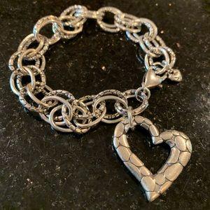 Brighton Silver Heart Bracelet